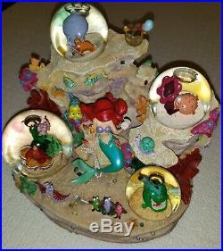 Rare Disney Little Mermaid Under The Sea Musical Snowglobe Snow Globe 1988