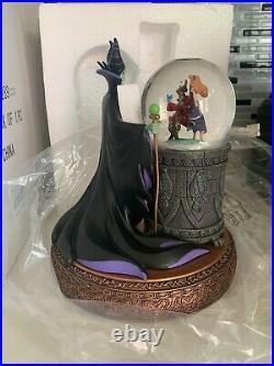 Rare Disney MaleficentDancing Sleeping Beauty Aurora Villain Series SnowGlobe