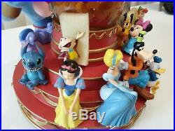 Rare Disney Mickey Mouse jumbo Music snow globe retired Mickey March (#19)
