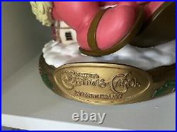 Rare Disney Mickeys Christmas Carol 20th Anniversary Snow Globe With Box