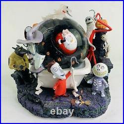 Rare Disney Nightmare Before Christmas Musical Halloween Song Snowglobe