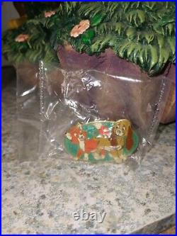 Rare Disney The Fox And The Hound Snow Globe with le pin and box and foam insert