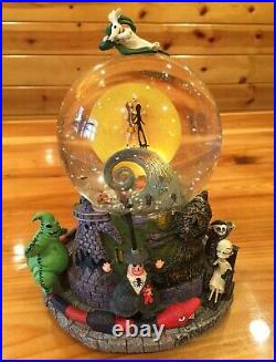 Rarest Disney Nightmare Before Christmas Nbx Snowglobe Tags New & Perfect Works