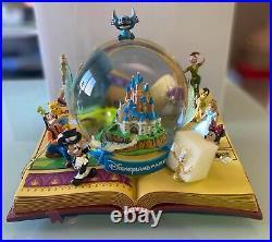 SNOW GLOBE 100 ILLUSTRATION Disneyland Paris Musical Stitch Tinker Mickey Disney