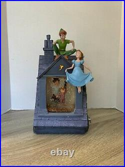 SUPER RARE Disney Store Peter Pan You Can Fly! Snowglobe All Working With Box
