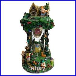 Snow White And The Seven Dwarfs Hour Glass Disney Snowglobe 360 Degree Rare EUC