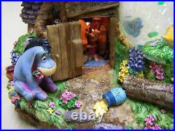 Super Rare Winnie the Pooh Tigger Musical big tree music box Snowglobe motorized