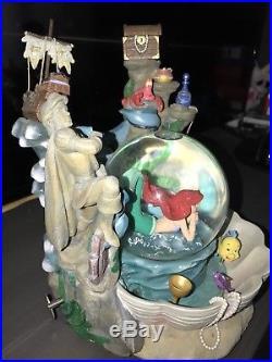 Ultra Rare Disney Little Mermaid Fountain Snow Globe