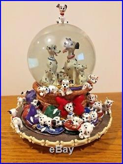 Very Rare 1989 Disney 101 Dalmatians Snow Globe and Music Box