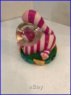 Vintage Disney Alice In Wonderland's Cheshire Cat Mini Water/snow Globe
