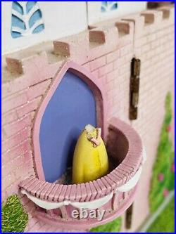 Vintage Disney Princess Opening Musical Castle Resin Snow Globe VERY RARE