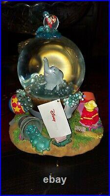 Vintage Disney Snow Globe Dumbo Takes A Bubble Bath