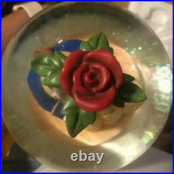 Vintage Disney Store LARGE Beauty and The Beast Snow Globe Music Box 6 globe