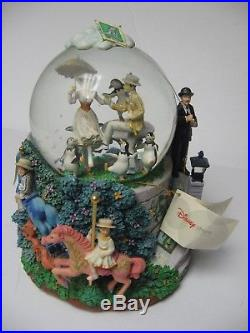 Walt Disney Mary Poppins Lets Go Fly A Kite Musical Snowglobe Snow Globe RARE