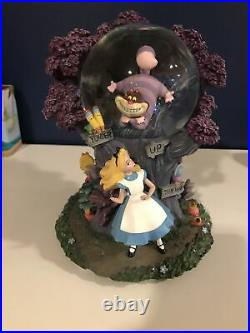 Walt Disney's Alice in Wonderland I'm Late Cheshire Cat Light Up Snow Globe