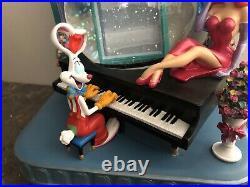 Who Framed Roger Rabbit Jessica Rabbit Musical Snow Globe RARE & EUC